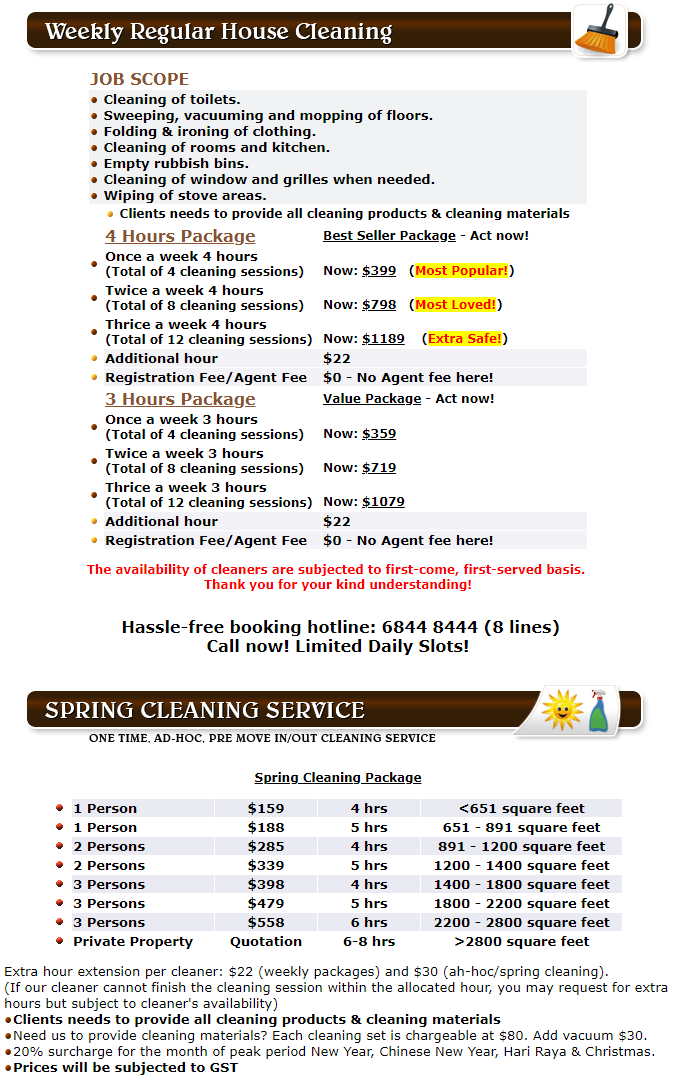 House Cleaning Pricing