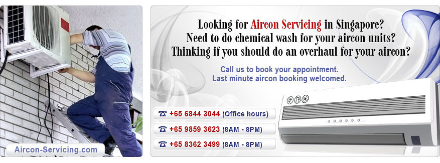Aircon servicing in Singapore. Chemical wash air-con units. Overhual for your airon